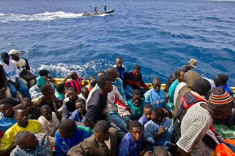 Migrants rescued at the Mediterranean sea. Image: UNHCR / A. Rodríguez