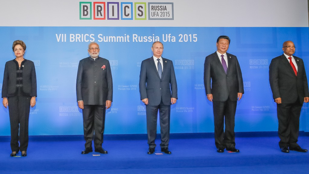 Líderes dos países do BRICS durante VII Cúpula do bloco. Foto: Roberto Stuckert Filho/PR