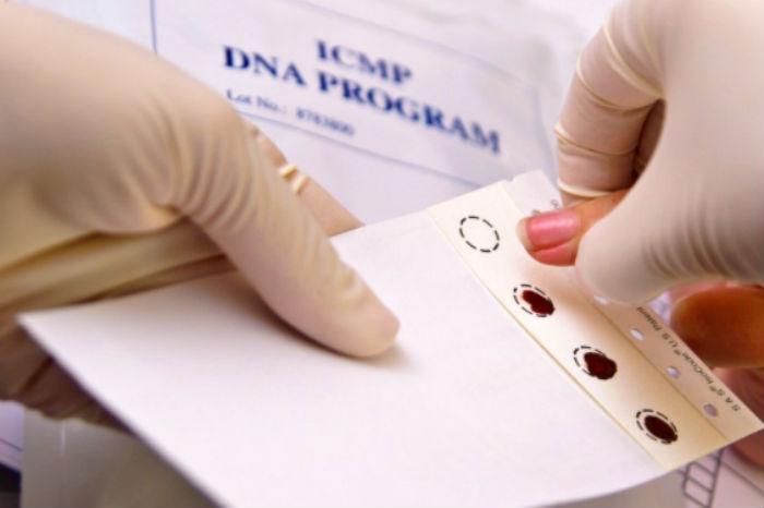 Coleta de DNA dos parentes das vítimas. Foto: ICMP