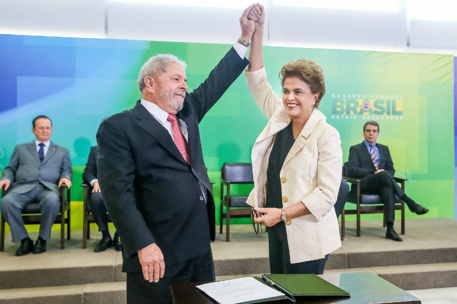 Dilma Rousseff appointed Lula as her Chief of Staff. Image: Roberto Stuckert Filho/PR