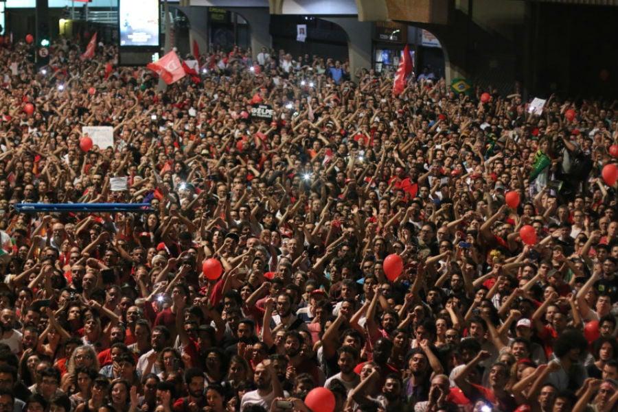 Ato contra o impeachment de Dilma Rousseff, em São Paulo, em 18 de março. Foto: Roberto Parizotti/ CUT