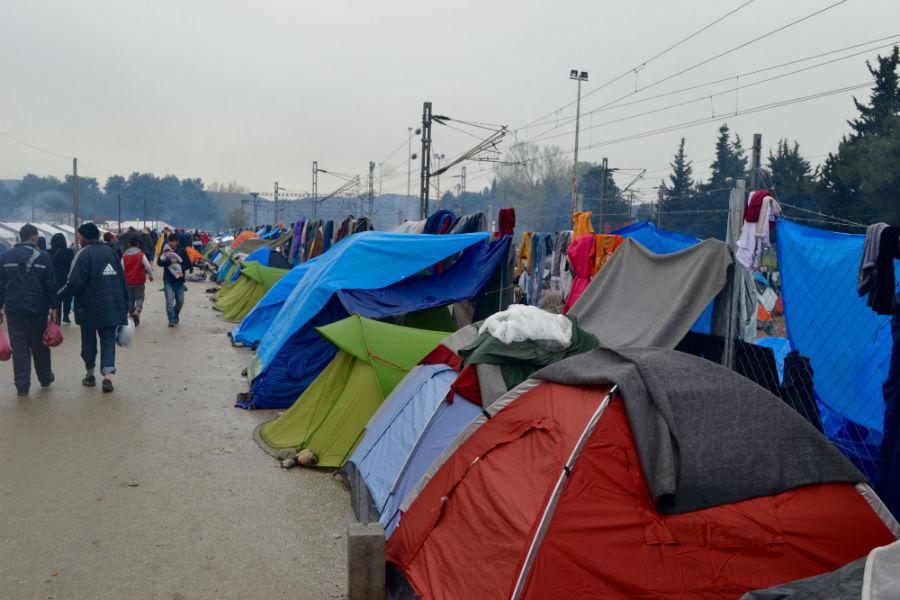 Campo de refugiados em Idomeni, Grécia. Foto: Gabriel Bonis