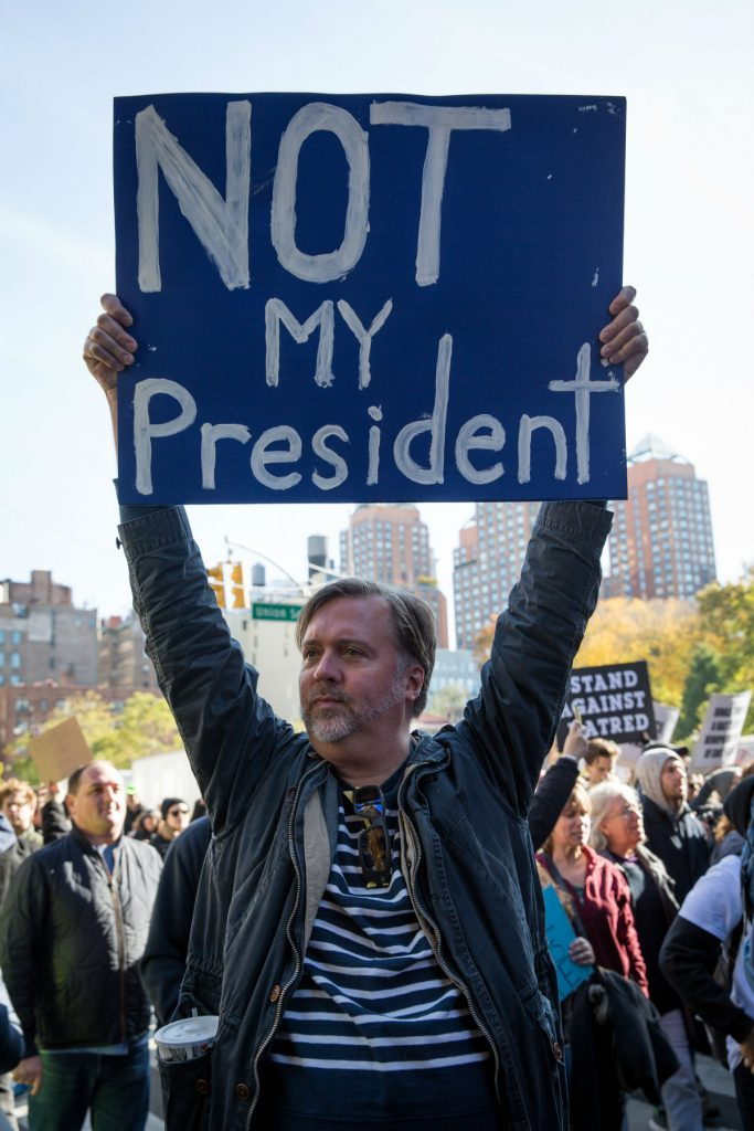 Protestos contra Trump em Manhattan, Nova York. Foto: Kelly Kline / Creative Commons / Flickr