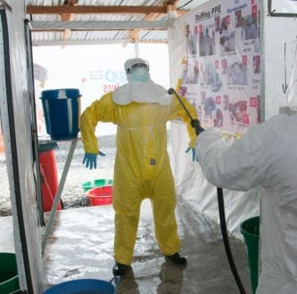 Unidade de tratamento ao Ebola na Libéria. Foto: UNMEER / Creative Commons / Flickr