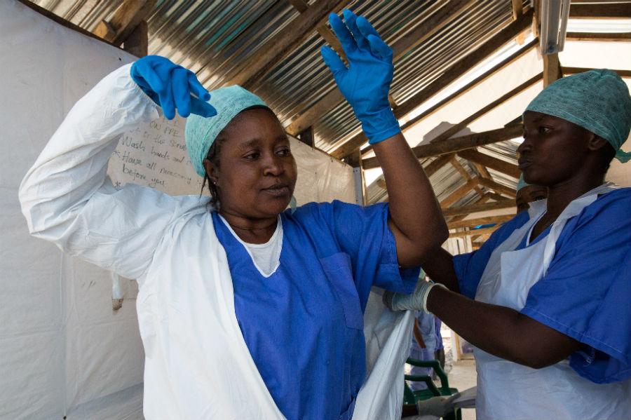 Unidade de tratamento ao Ebola em Serra Leoa. Foto: UNMEER / Creative Commons / Flickr